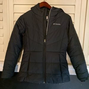 THE north face blk  puffer girls size large